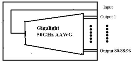 Gigalight AAWG DWDM MUX / DEMUX